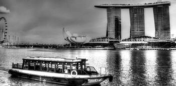 Black and White City Series - Marina Bay Sands, Si