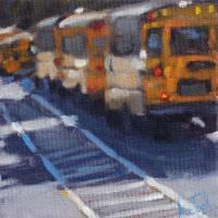 Bus Line Art Prints & Posters by Ann Tuck