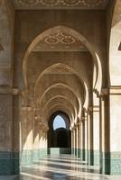 Archway Gallery at Hassan II Mosque, Casablanca, M