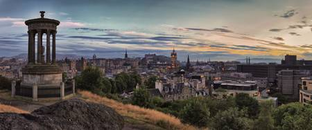 Panoramic View Of the City of Edinburgh. Scotland