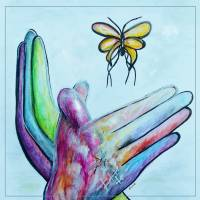 """Butterfly - A Sign Language Painting"" by EloiseArt"