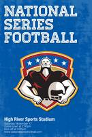 American Football National Series Poster Art