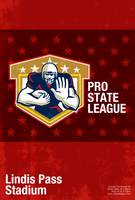 American Football Pro State League Poster Art