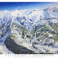 """Telluride, Colorado"" by jamesniehuesmaps"