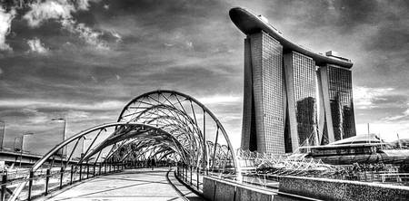 Black and White Photography - City Singapore 2013