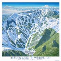 """Mission Ridge, Washington"" by jamesniehuesmaps"