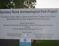 Quindaro Ruins Archeological Park Project, KC, KS