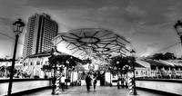City Singapore 2013 - Black and White Photograph