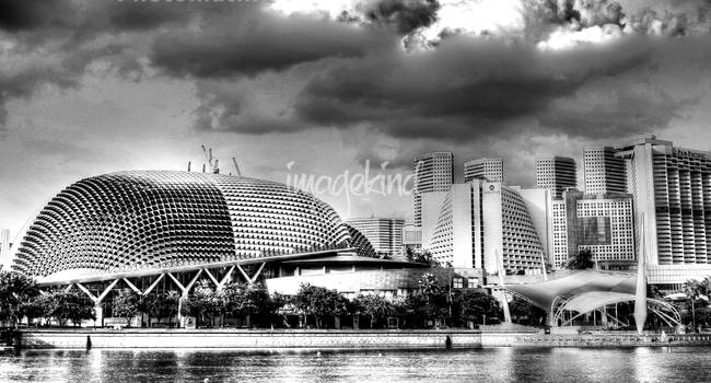 City singapore 2013 black and white photograph by sghomedeco 2013