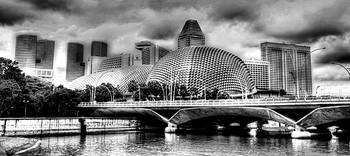 City Singapore in Black/white - Esplanade Theater