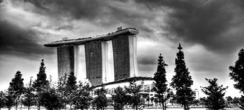 Urban Landscape Singapore B/W : Marina Bay Sands
