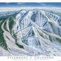 """Steamboat Trail Map 1988"" by jamesniehuesmaps"