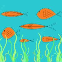 """""""Mid Century Fish 2"""" by DMibus"""