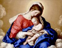 Madonna & Child Jesus Sleeping