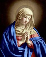 Virgin Mary Praying with Folded Hands