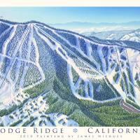 """Dodge Ridge ski resort, California"" by jamesniehuesmaps"