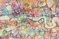 Watercolour Map of London