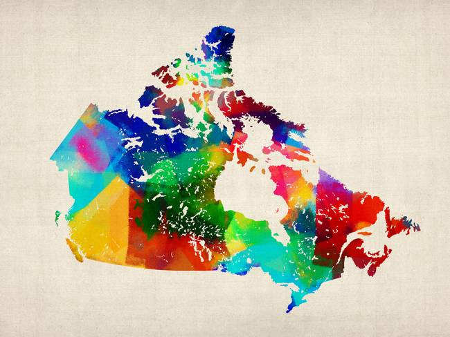 Stunning Canada Map Artwork For Sale on Fine Art Prints