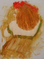 Redheaded Woman Turning