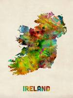 Ireland Eire Watercolor Map