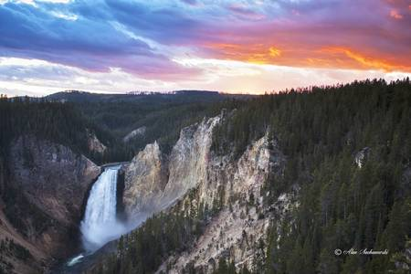 Lower Falls Sunset