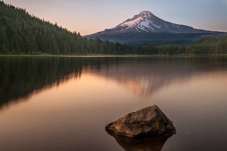 Mount Hood from Trilium Lake