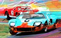 FORD GT 40 LEADS THE PACK