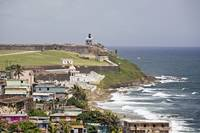 Old San Juan Coastline with the El Morro Fort