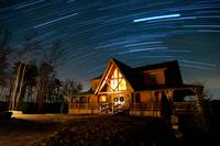 Star Trails over the Cabin