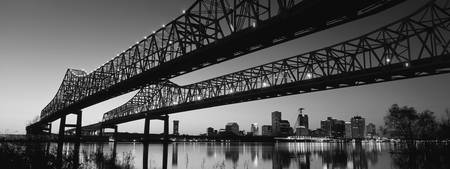 Crescent City Connection, New Orleans, B&W