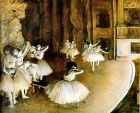 Ballet Rehearsal on Stage 1874