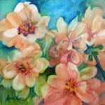 """Orange Flowers"" by MarniMaree"