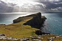Sunbeams over Neist point.