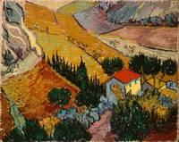 Landscape with House and Ploughman, 1889