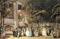 Vauxhall Gardens from Ackermann's 'Microcosm of