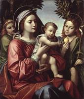 The Virgin and Child, St. John the Baptist and an