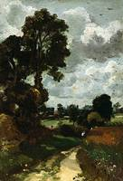 Oil Sketch of Stoke-by-Nayland