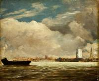 On the Thames near Battersea Bridge, c.1816