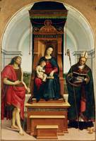 The Madonna and Child with St. John the Baptist an