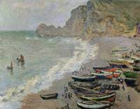 Etretat, beach and the Porte dAmont, 1883