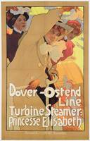 'Dover- Ostend Line', poster advertising travel