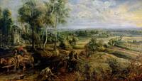An Autumn Landscape with a view of Het Steen in th