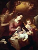 Madonna Wrapping the Christ Child in Swaddling Rob