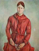 Portrait of Madame Cezanne in a Red Dress, c.1890