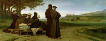 St. Francis of Assisi, while being carried to his