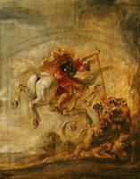 Bellerophon Riding Pegasus Fighting the Chimaera,