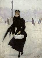 Parisian woman in the Place de la Concorde, c.1890