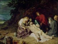 Lamentation over the Dead Christ with St. John and