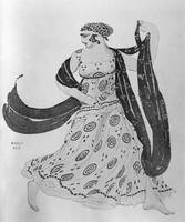 Costume design for 'Cleopatra', 1910