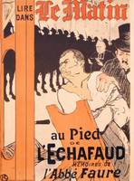 Advertisement for a memoire by l'abbe Faure in Le